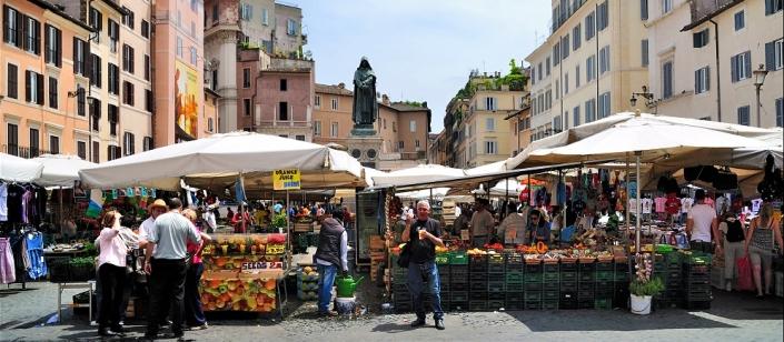Rome Campo De Fiori Market