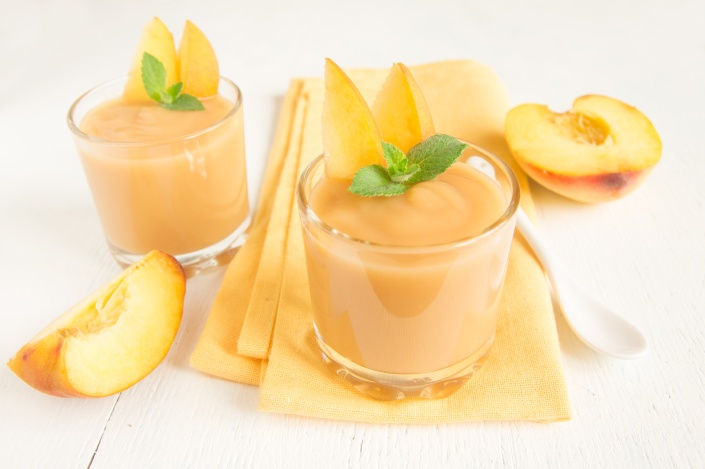 Peach quinoa smoothie
