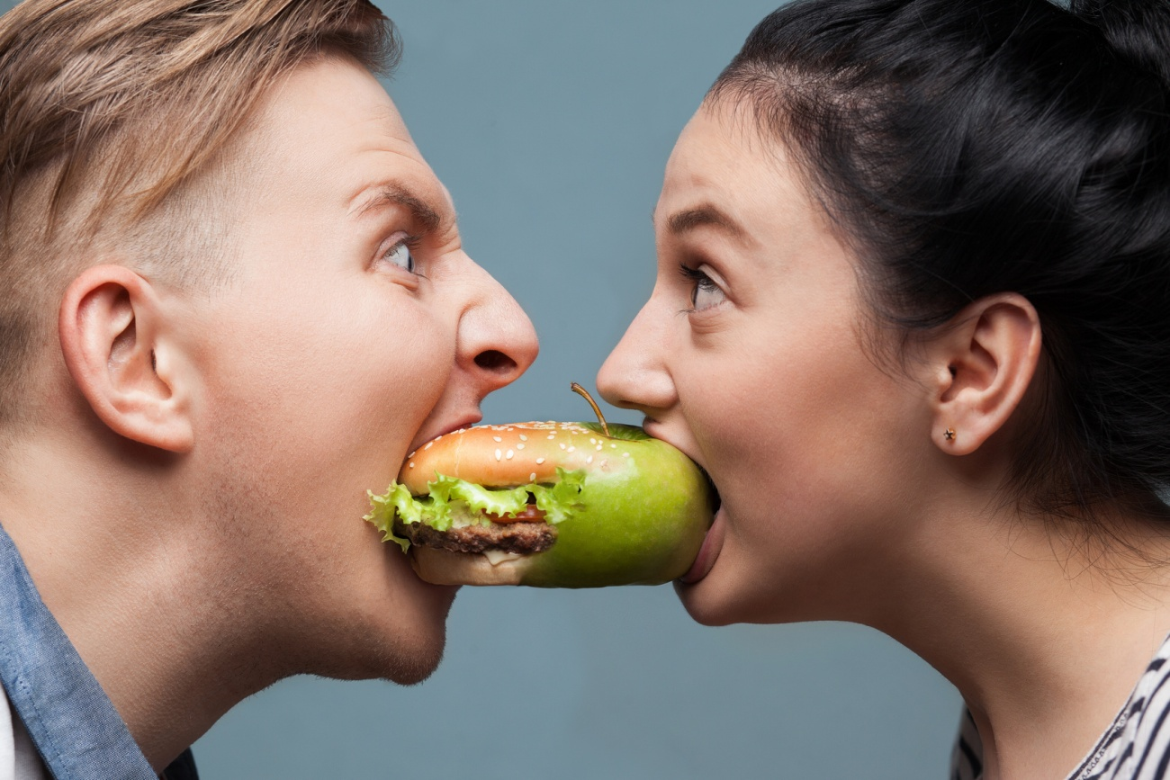 battle of healthy and tasty foods