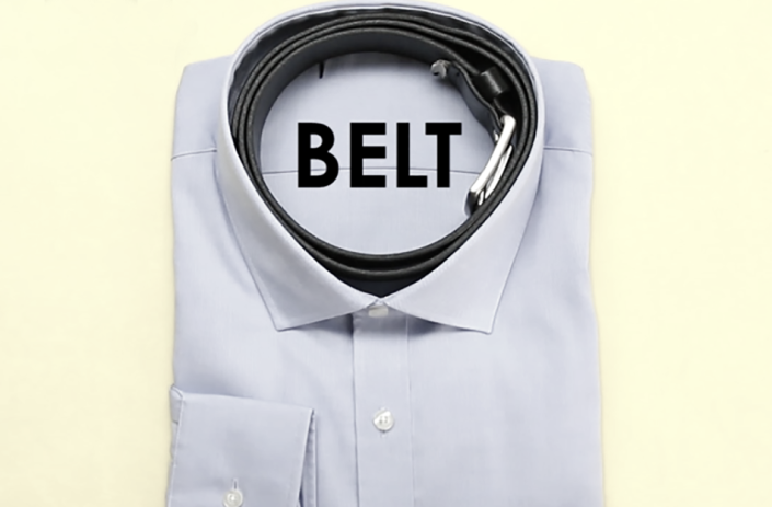 belt in shirt