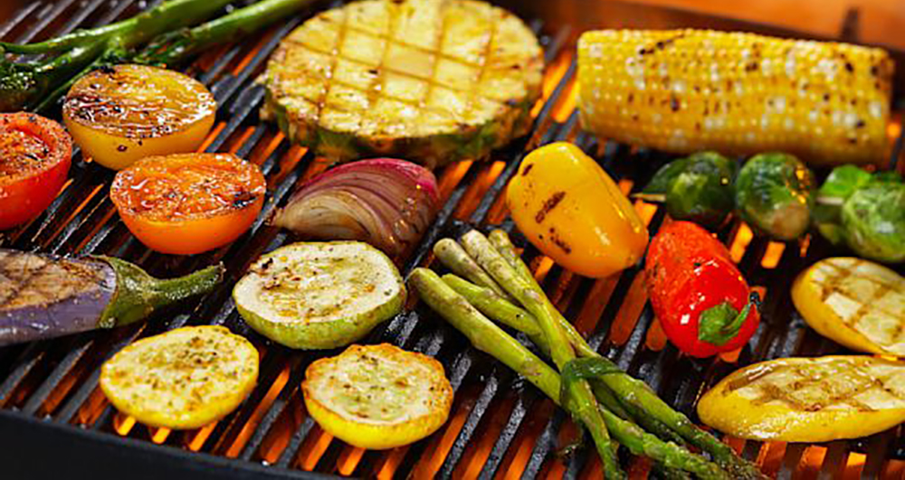 Portable Grill Veggies