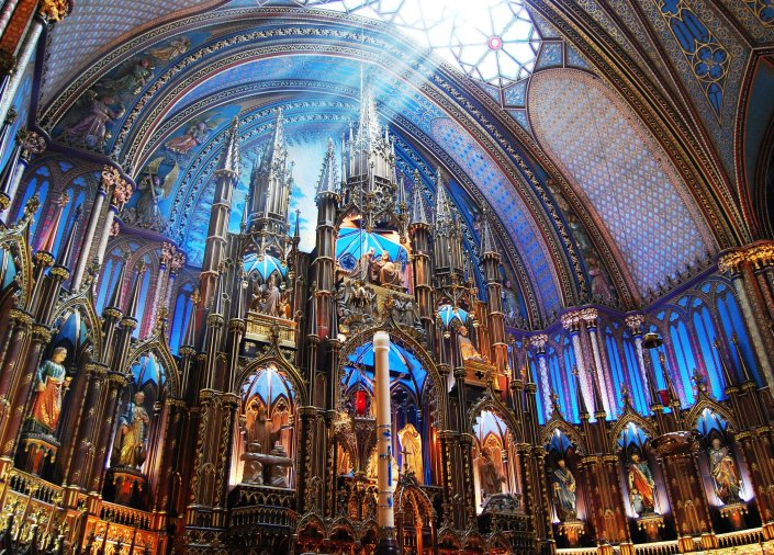 Basilique Notre Dame in Montreal