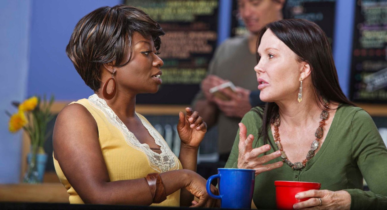 Calm Women in Conversation