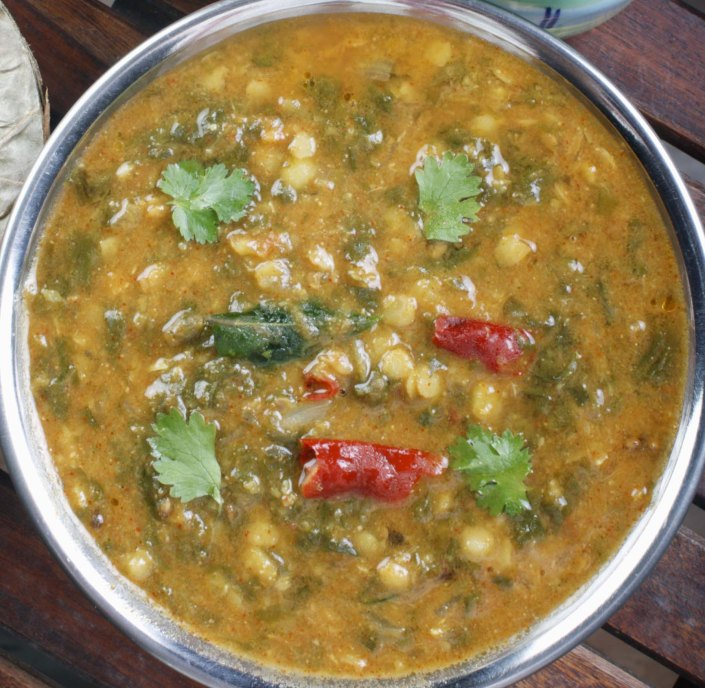 Dhal with spinach
