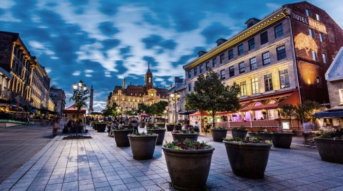 Place Jacques Cartier in Montreal