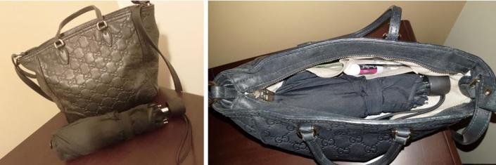 purse + umbrella