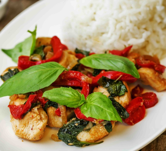 Balsamic chicken and rice